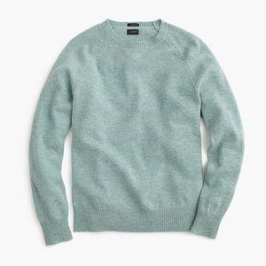 Men's J. Crew Lambswool Sweater in Light Green